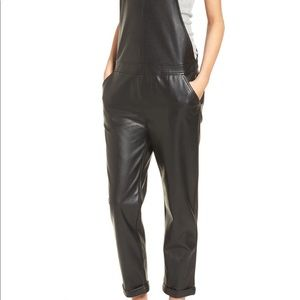 DAVID LERNER faux leather overalls 😍